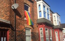 A rainbow flag flies in Hull to show lesbian couple Stephanie and Vikki Parkey that they're welcome