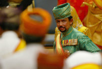 The Sultan of Brunei, who introduced death by stoning for gay people this month. A transgender teenager has fled the country to Canada where she is claiming asylum.