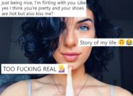An Instagram photo of the tweeter who went viral by posting about flirting with other bisexual women