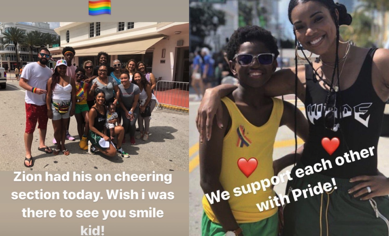 Dwyane Wade And Gabrielle Union Support Son Zion At Miami