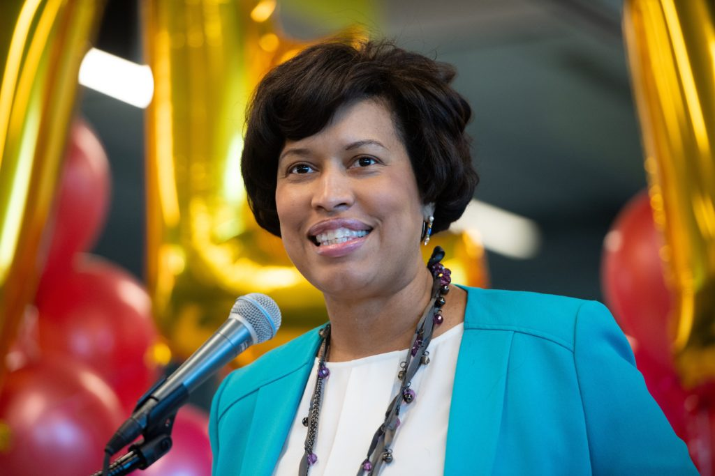 "Mayor Muriel Bowser of Washington, DC, speaks prior to signing the ""Let Our Vows Endure Emergency Act of 2019,"" or ""LOVE Act,"" which gives the mayor the authority to issue marriage licenses during the partial federal government shutdown in January, 2019"
