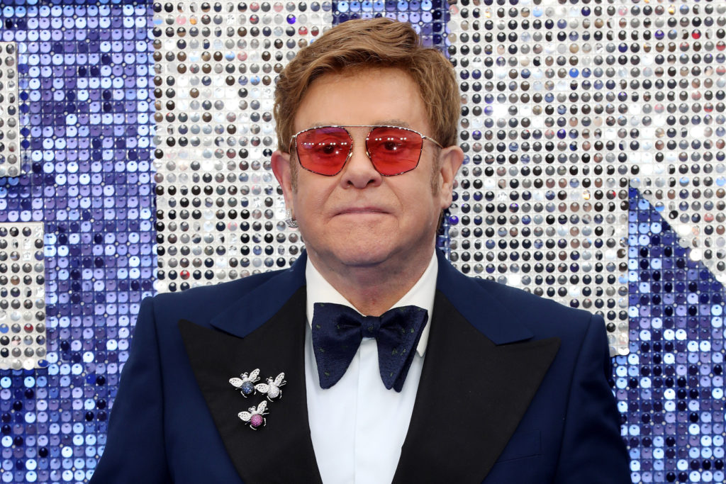 Sir Elton John attends the Rocketman UK premiere at Odeon Luxe Leicester Square on May 20, 2019 in London, England.