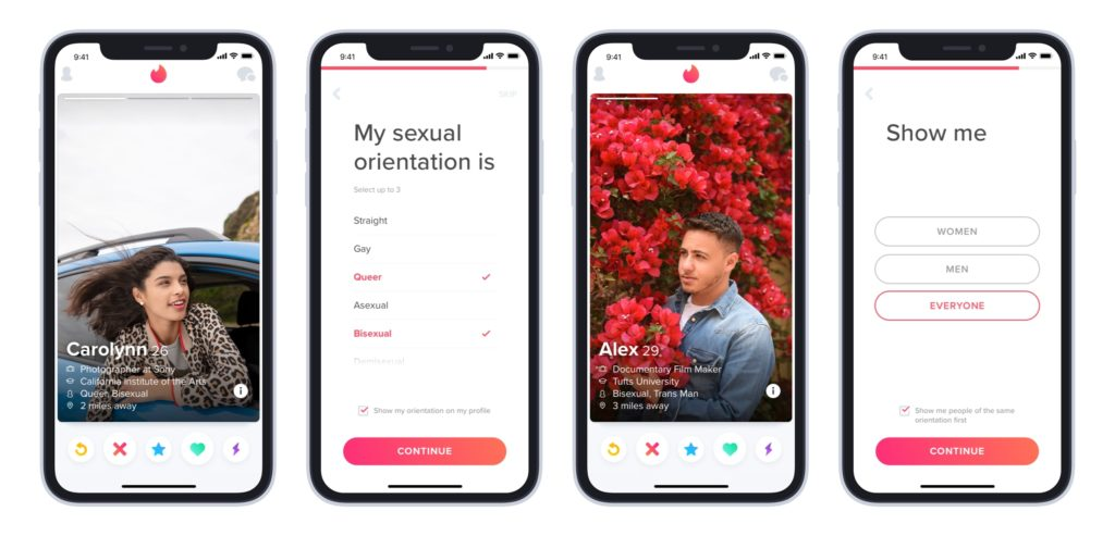 Tinder sexual orientation feature