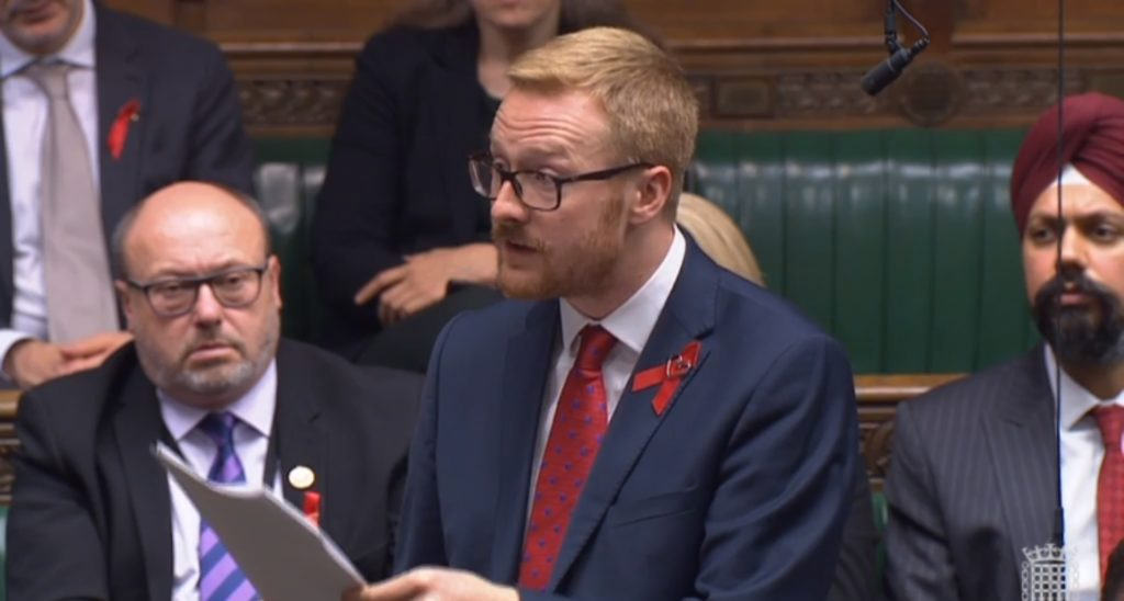 Gay Labour MP Lloyd Russell-Moyle speaks in Parliament