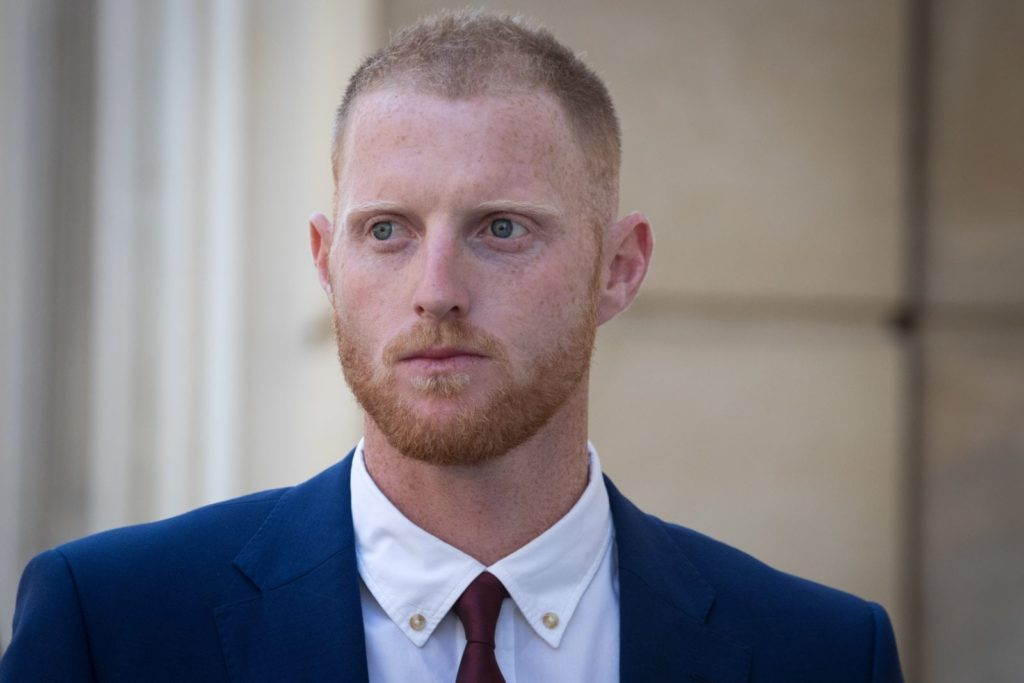 BRISTOL, ENGLAND - AUGUST 06: England Cricketer Ben Stokes walks into Bristol Crown Court on August 6, 2018 in Bristol, England. Ben Stokes, 27, Ryan Ali, 28 and Ryan Hale, 27, are jointly charged with affray outside a Bristol night club on September 25 last year. (Photo by Matt Cardy/Getty Images)