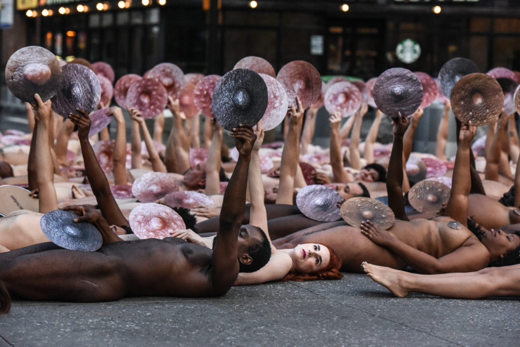 We the Nipple nude protest new york