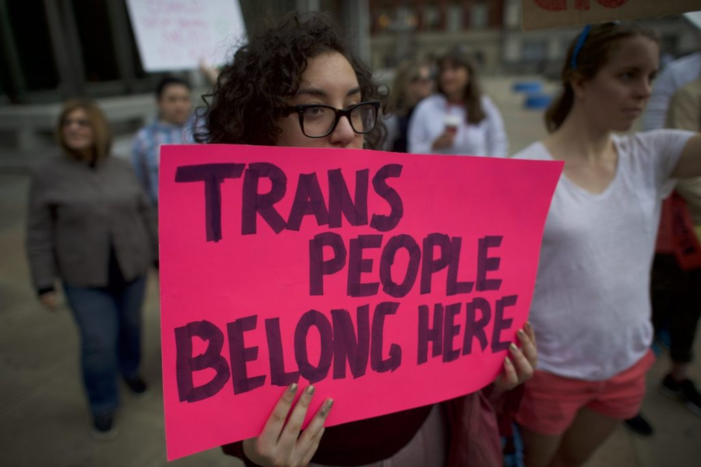 Protesting trans rights