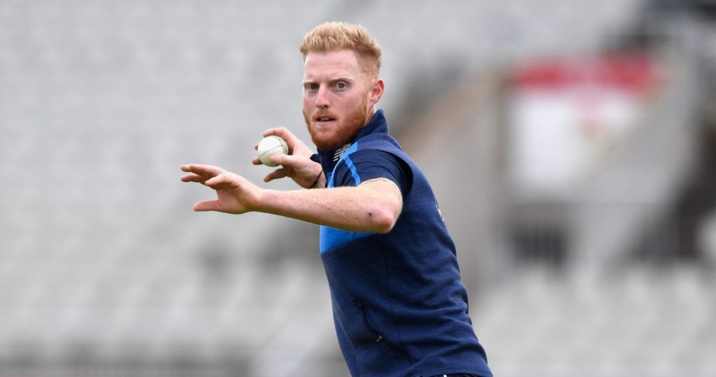 MANCHESTER, ENGLAND - SEPTEMBER 18: England player Ben Stokes in action during England nets ahead of the 1st ODI against West Indies at Old Trafford on September 18, 2017 in Manchester, England. (Photo by Stu Forster/Getty Images)
