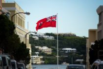 The flag of Bermuda flies in Hamilton