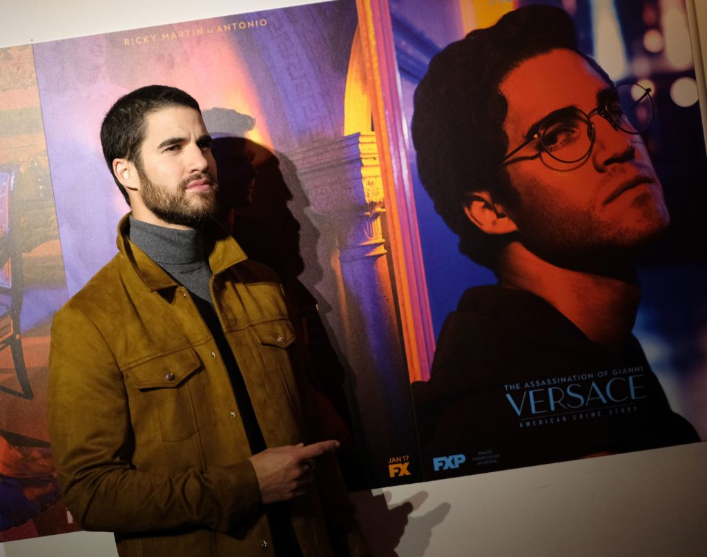 "Darren Criss attends the premiere of ""The Assassination of Gianni Versace: American Crime Story."""