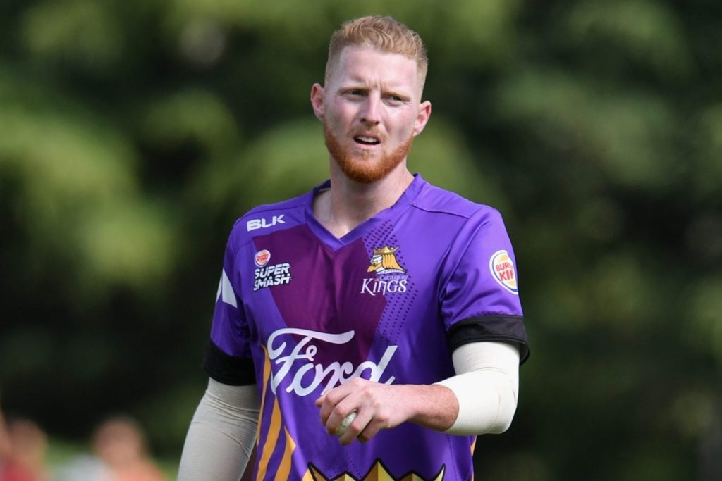 RANGIORA, NEW ZEALAND - DECEMBER 22: Ben Stokes of Canterbury looks on during the Super Smash match between the Canterbury Kings and the Central Stags on December 22, 2017 in Rangiora, New Zealand. (Photo by Kai Schwoerer/Getty Images)