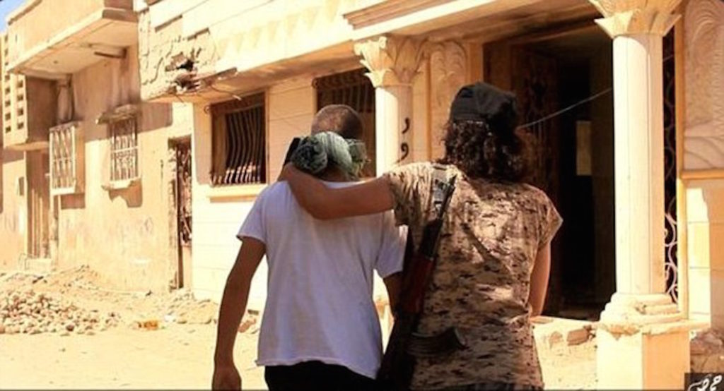 Shocking video shows ISIS militants throw 'gay' men off a building