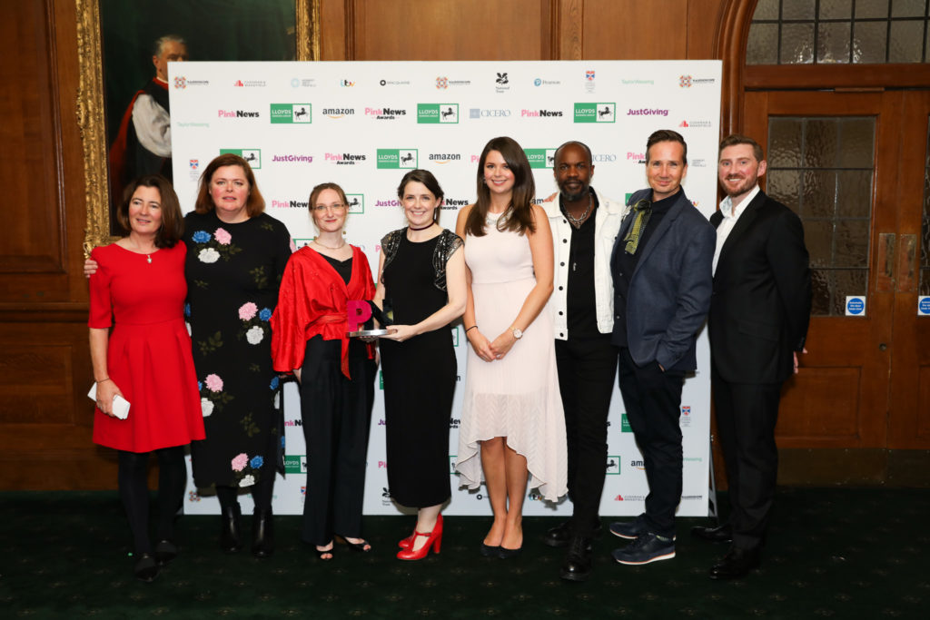 The National Trust wins Third Sector Equality Award at the PinkNews 2018.
