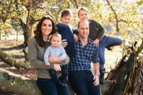 Prince William with his wife Kate Middleton and children Prince George, Princess Charlotte and Prince Louis