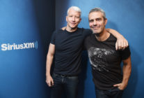 Andy Cohen and Anderson Cooper at Sirius Radio.