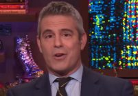 Andy Cohen speaks to the camera on Watch What Happens Live with Andy Cohen