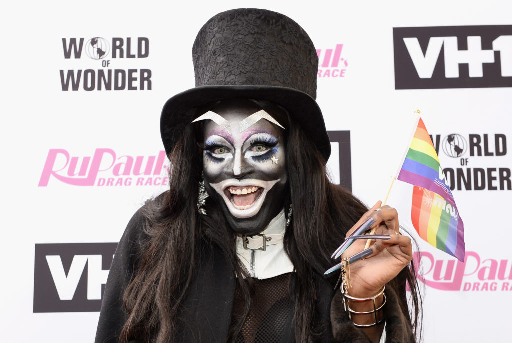 Miles Jai dressed as The Babadook arrives at 'RuPaul's Drag Race' Season 9 Finale Taping at Alex Theatre on June 9, 2017 in Glendale, California.