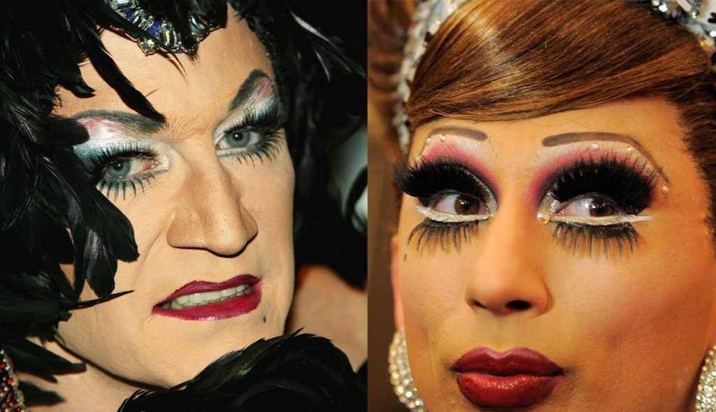 Lily Savage (Paul O'Grady) L and Bianca Del Rio R
