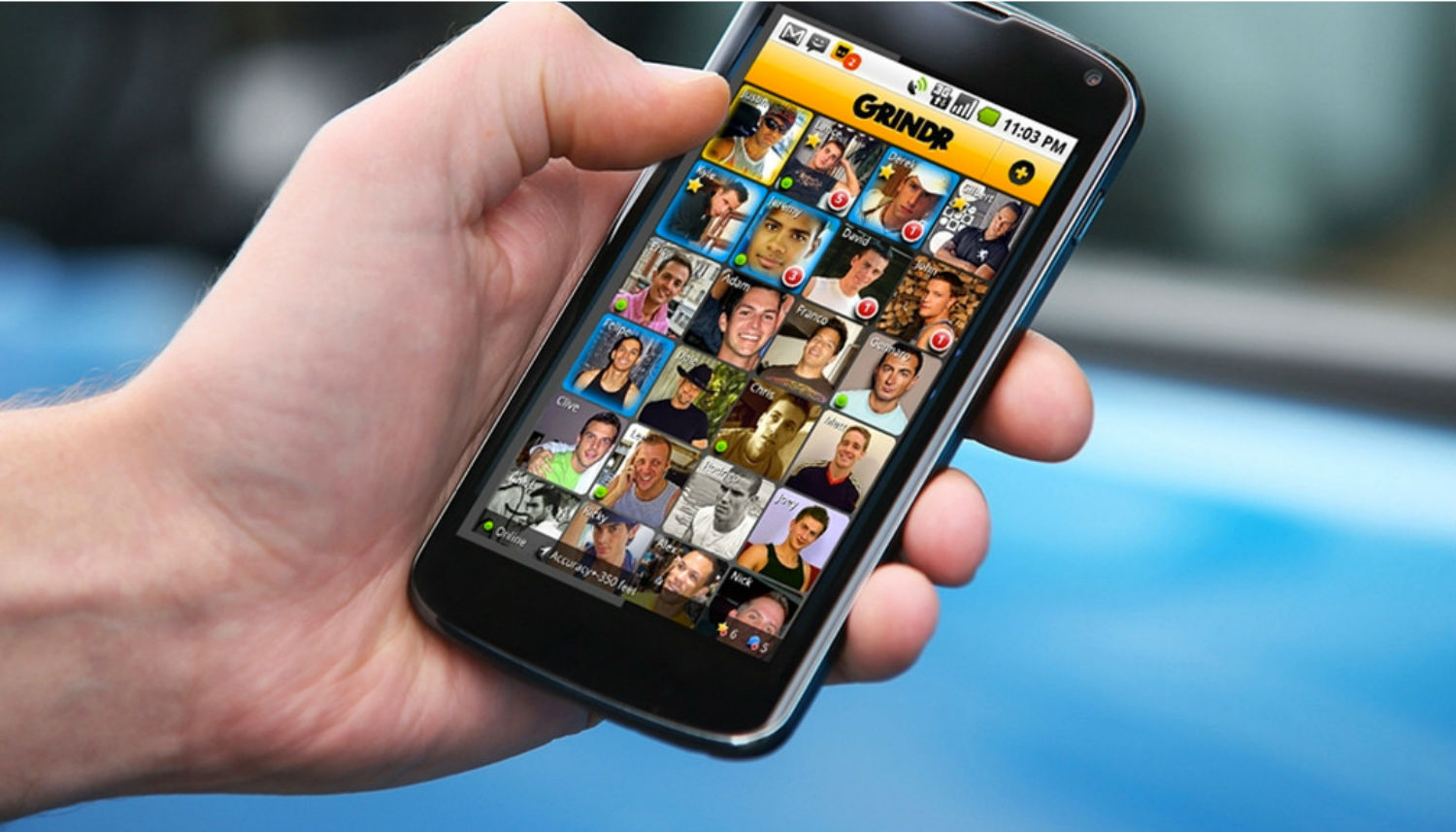Grindr helps gay men quickly find hook-