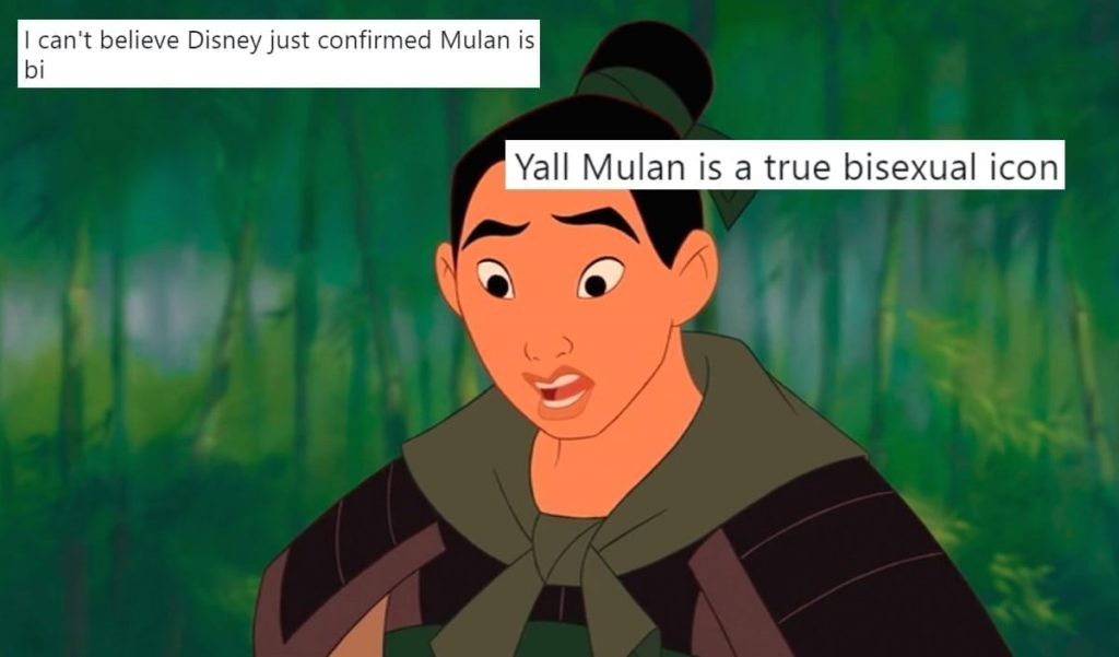 Mulan Is Bisexual In Ralph Breaks The Internet According To Fans