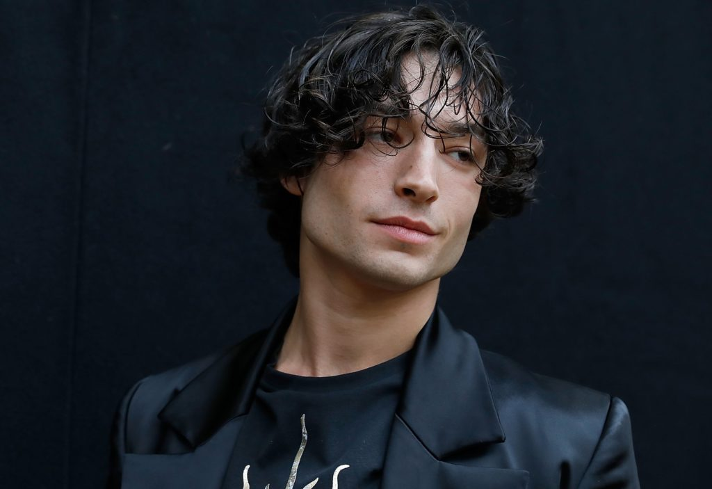 Ezra Miller attends the Vivienne Westwood show during London Fashion Week