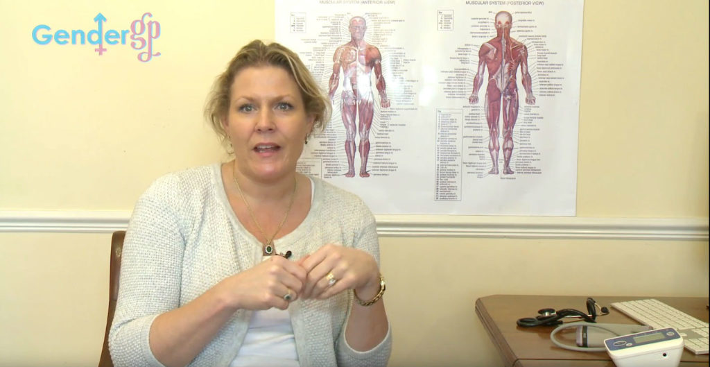 Dr Helen Webberley in a Gender GP video
