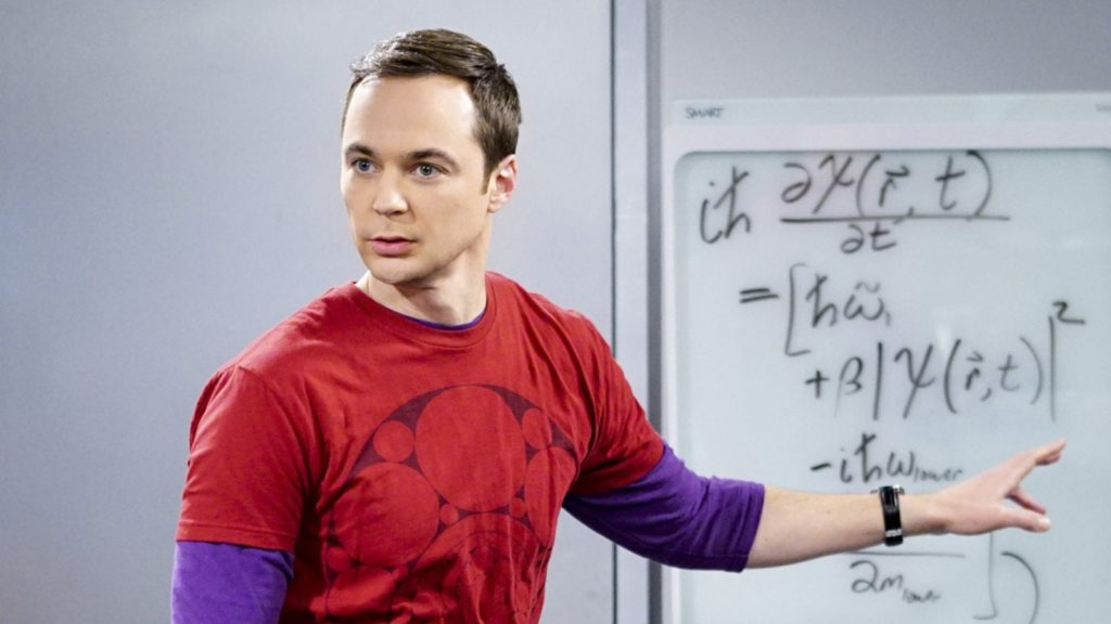 """""""The Locomotion Reverberation""""-- Pictured: Sheldon Cooper (Jim Parsons). Leonard and Wolowitz try to distract Sheldon when he slows the progress of their guidance system. Also, Penny and Amy take Bernadette out for the night, leaving Raj and Stuart to care for baby Halley, on THE BIG BANG THEORY, Thursday, Feb. 9 (8:00-8:31 PM, ET/PT), on the CBS Television Network. Dean Norris returns as Colonel Williams."""