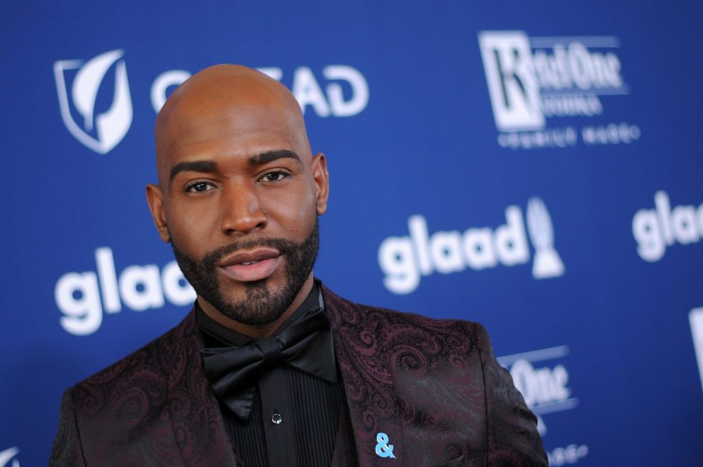 Karamo Brown of Queer Eye attends the 29th Annual GLAAD Media Awards at The Beverly Hilton Hotel on April 12, 2018