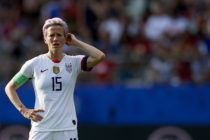 Megan Rapinoe of United States during the 2019 FIFA Women's World Cup France Round Of 16 match between Spain and USA