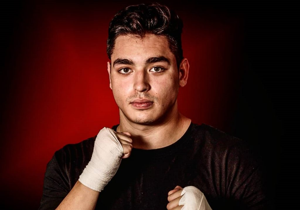 An Instagram photo of Mexican athlete Dario Larralde posing with his boxing gear. The boxer suggested that Hitler was right.