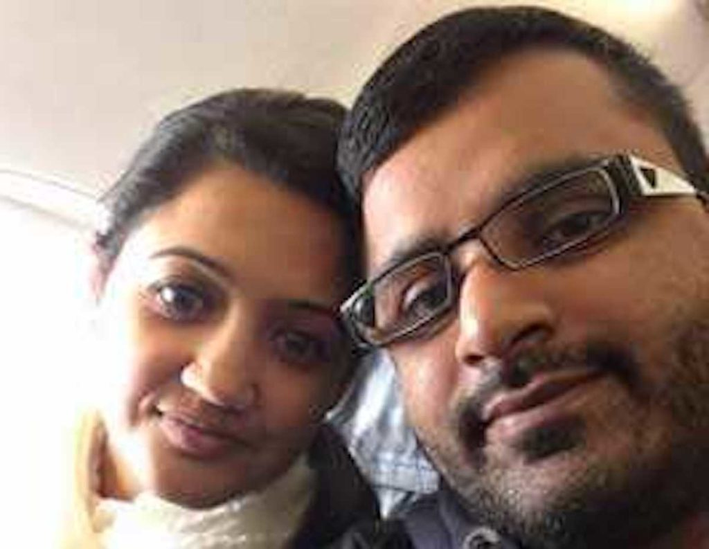Mitesh Patel (right) and his wife Jessica Patel (left), who he murdered
