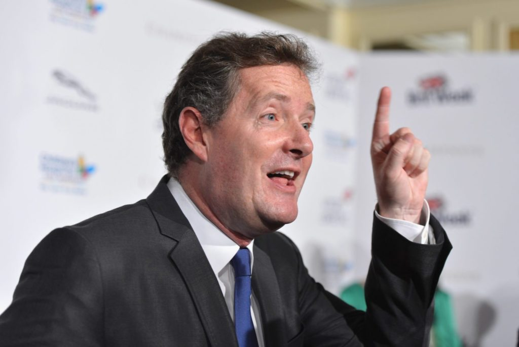 """TV host Piers Morgan arrives to BritWeek 2012's """"Evening with Piers Morgan"""" on May 4, 2012 in Beverly Hills, California"""