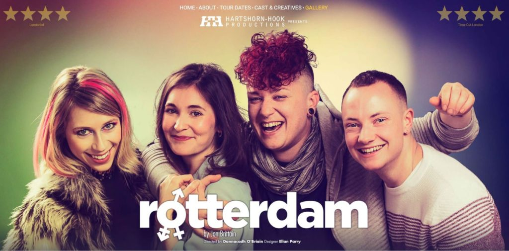 Rotterdam is a play created by Jon Brittain and directed by Donnacadh O'Briain. (Hartshorn-Hook Productions)
