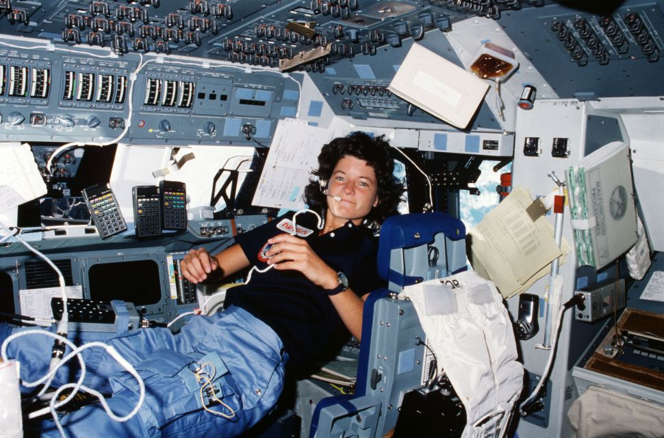 Sally Ride on the space shuttle Challenger