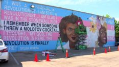 New mural in Dallas, Texas, to commemorate 50th anniversary of Stonewall riots. (NBCDFW)
