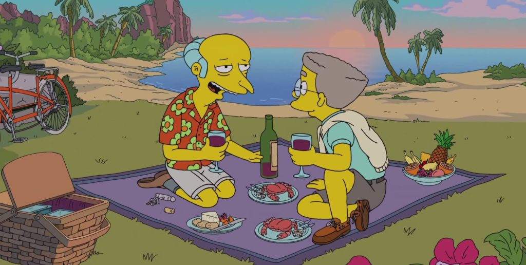 The Simpsons' Mr Burns and gay Waylon Smithers
