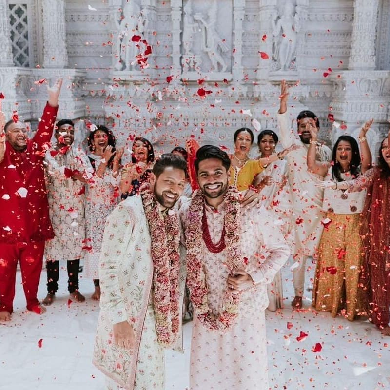 Gay couple and their stunning Indian wedding go viral
