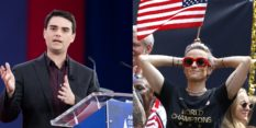 Right-wing pundit Ben Shapiro and Megan Rapinoe
