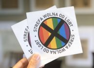 LGBT free zone stickers