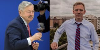 Former Governor of Iowa Terry Branstad and ex-official Chris Godfrey