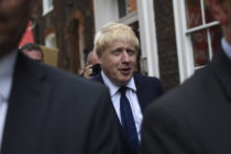 Conservative leadership favourite Boris Johnson leaves his office on July 22, 2019 in London, England.