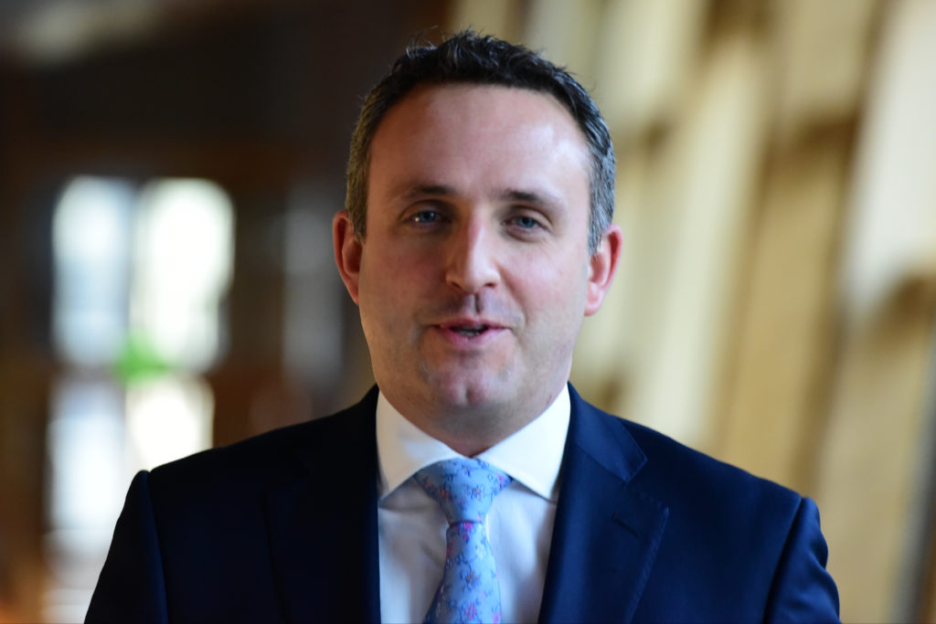Scottish Liberal Democrat MSP ALex Cole-Hamilton on the way to First Minister's Questions in the Scottish Parliament on January 12, 2017 in Edinburgh, Scotland.