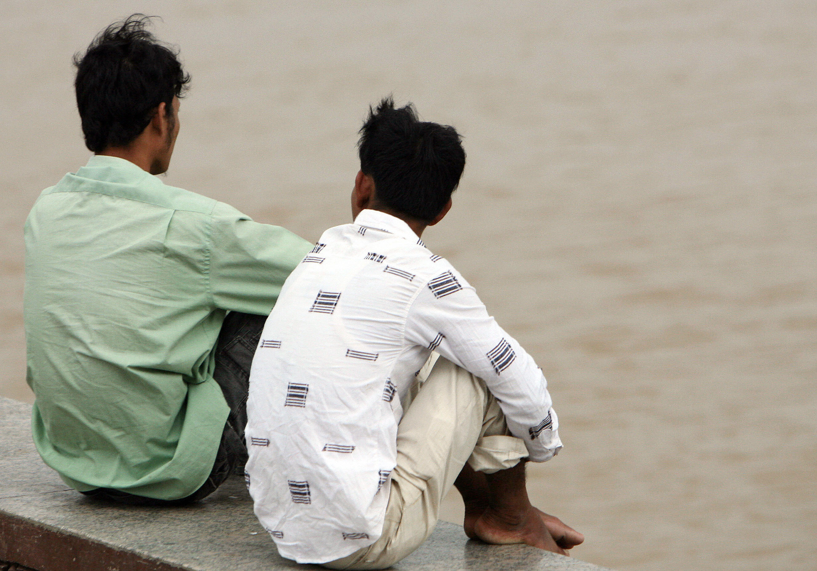 Two young men in Cambodia