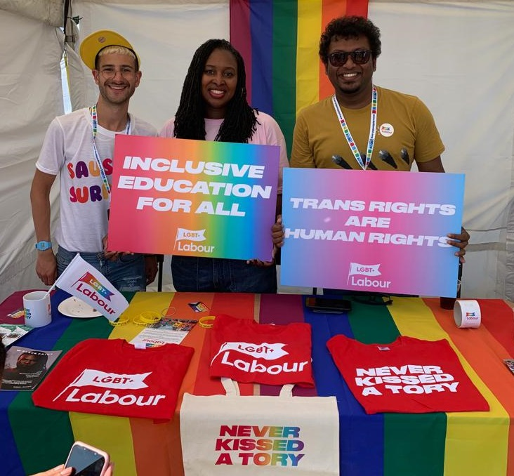 Labour's shadow equalities chief Dawn Butler at UK Black Pride