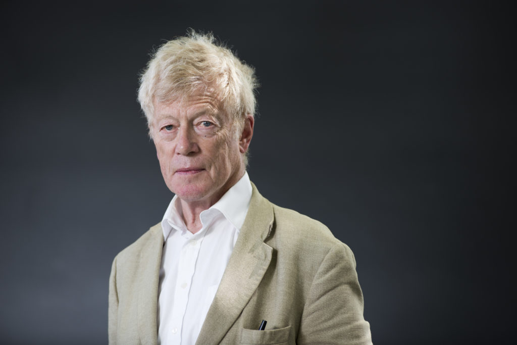 Roger Scruton attends the Edinburgh International Book Festival on August 15, 2016 in Edinburgh, Scotland.
