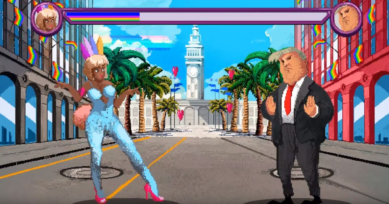 Pride Run allows players to take on Donald Trump