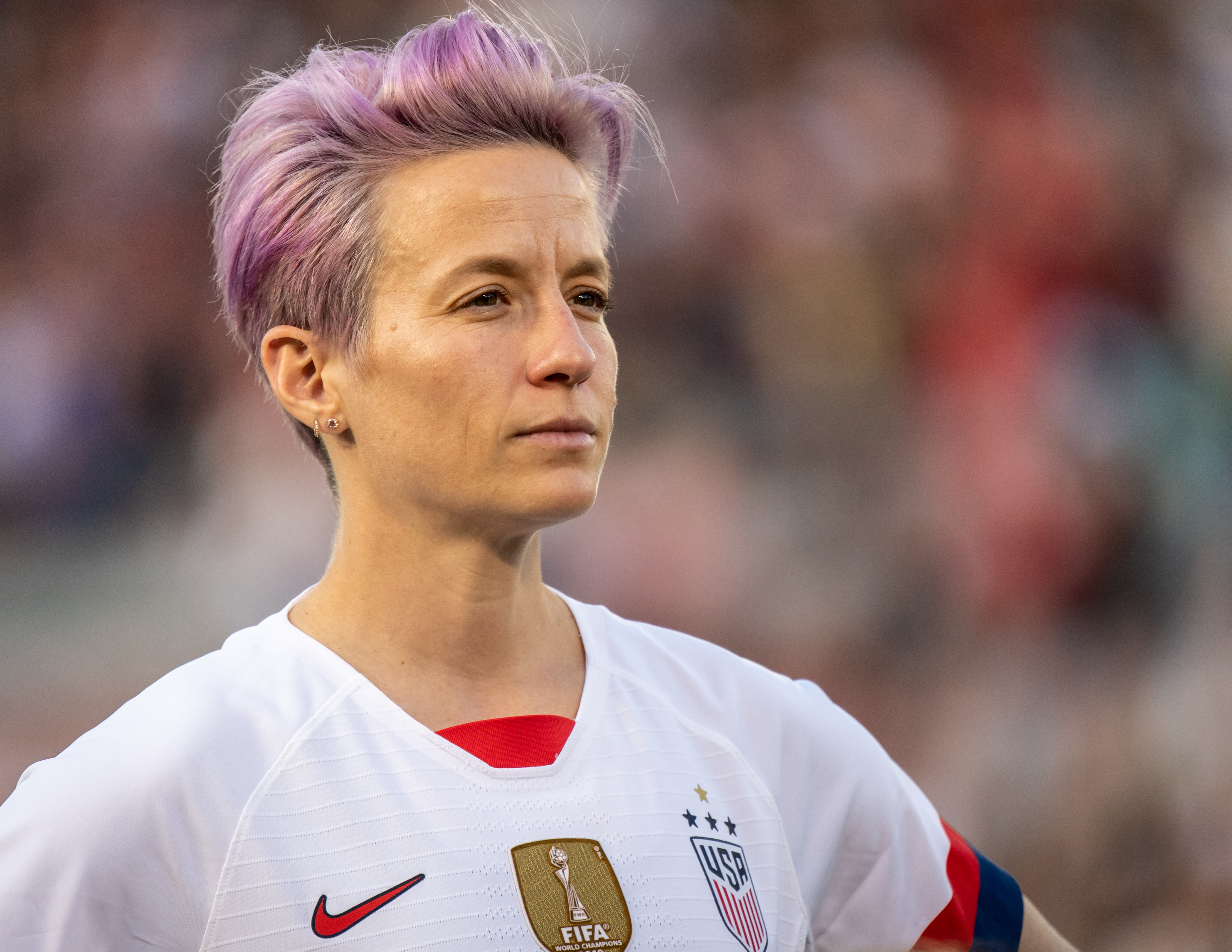 Megan Rapinoe says her dad 'probably' voted for Trump