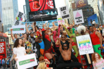 The 40th anniversary of the Stonewall Riots in Times Square on June 25, 2009 in New York City.