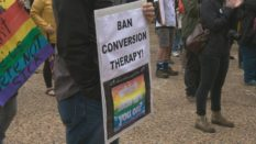 Conversion therapy rally
