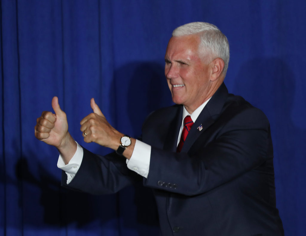 Mike Pence appears with three sets of 'anti-LGBT extremists' in five days